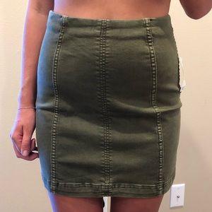 Free People army skirt